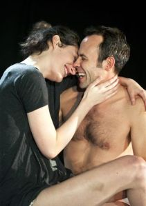 Phoebe Waller-Bridge as Marian, Keir Charles as David. Photo Simon Annand