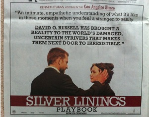 Silver Linings Playbook as it appears in the Observer