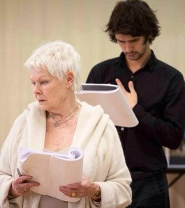 Judi Dench and Ben Whishaw in rehearsals. Photo Marc Brenner.