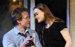 Jamie Parker as Hal and Mariah Gale as Catherine. Photo: Alastair Muir