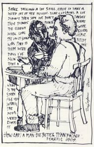 Rae Smith sketch - Juno and the Paycock Donmar 1999