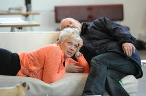 Keith Allen and Denise Welch in rehearsal. Photo by Alastair Muir