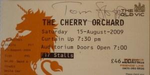My Tom Stoppard autograph