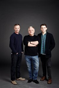 John Simm, Simon Russell Beale, Harry Melling, promotional photo for The Hothouse. Photo Jay Brooks