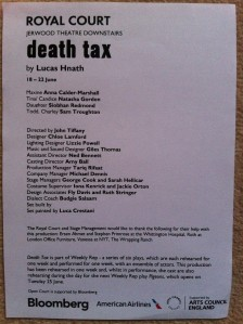 death tax review - cast list