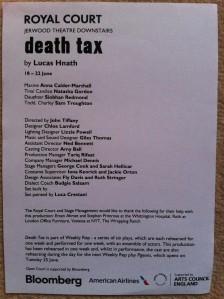 death tax review - cast list