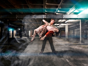 Paul Zivkovich and Kate Jackson in Punchdrunk's The Drowned Man. Photo: Perou