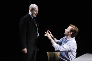 Nigel Lindsay and David Tennant in The Pillowman. Photo Nigel Norrington