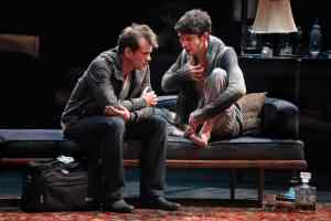 Hugh Dancy (Philip) and Ben Whishaw (Oliver). Photo Sara Krulwich