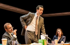 Nigel Lindsay, Daniel Mays and Monica Dolan in The Same Deep Water As Me. Photo Johan Persson