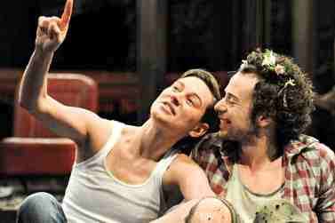 As You Like It. Pippan Nixon and Alex Waldmann. Photo Alastair Muir