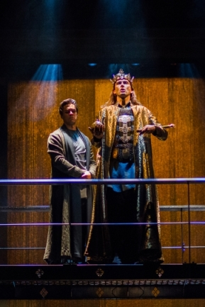 Oliver Rix (Aumerle), David Tennant (Richard II). Photo Kwame Lestrade