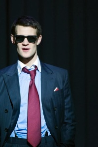 Matt Smith as Patrick Bateman. Photo Manuel Harlan