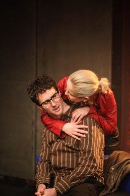 Sean McConaghy as Adam, Anna Bamberger as Evelyn. Photo Maximilien Spielbichler