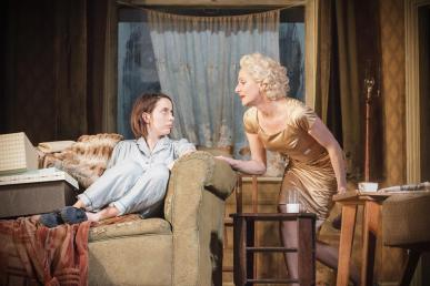 Kate O'Flynn as Jo, Lesley Sharp as Helen. Photo Marc Brenner