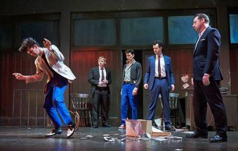 Ben Whishaw, Rupert Grint, Colin Morgan, Daniel Mays, Brendan Coyle. Photo Nigel Norrington