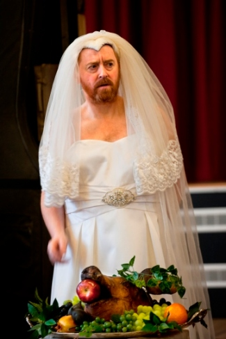 Forbes Masson as Katherine in The Taming of the Shrew. Photo Simon Annand
