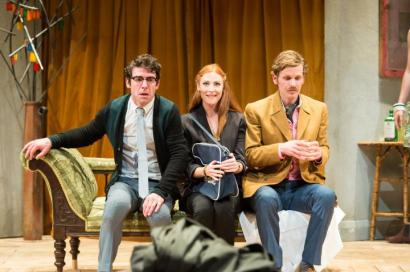 Paul Ready. Rosalie Craig and Shaun Evans in Black Comedy.  Photo Manuel Harlan