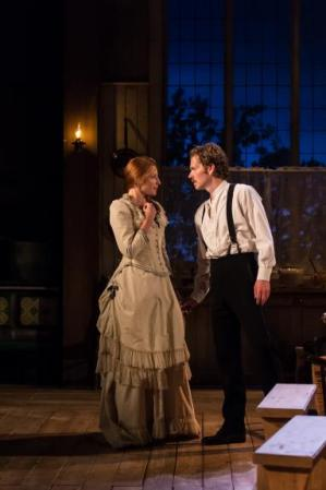 Rosalie Craig and Shaun Evans in Miss Julie. Photo Manuel Harlan