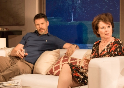 Lloyd Owen as Mike and Imelda Staunton as Margaret in Good People. Photo Johan Persson