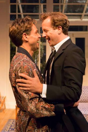 Julian Ovenden as John, Geoffrey Streatfeild as Daniel. Photo Johan Persson