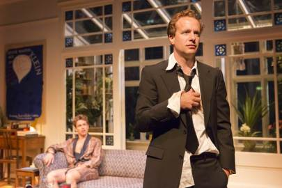 Geoffrey Streatfeild as Daniel (foreground)and Julian Ovenden as John (background). Photo Johan Persson