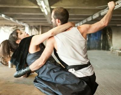 Christine Entwisle as Tamora and Adam Burton as Titus. Photo Hala Mufieh