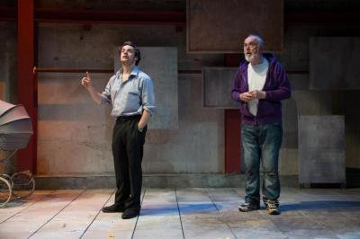 Alex Waldmann as Jonah, Peter Egan as Otto. Photo Jack Sain