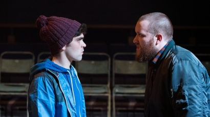 Sam Swann and Charlie and Sean Rigby as Moe. Photo Manuel Harlan