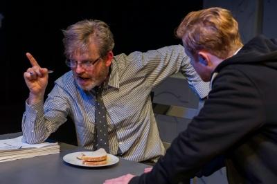 Ruairi Conaghan and Conor MacNeill in Ira Provitt and The Man. Photo  Jeremy Abrahams